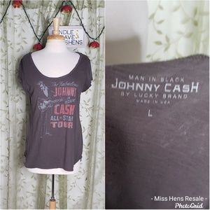 LUCKY BRAND JOHNNY CASH TOUR VINTAGE STYLE TEE